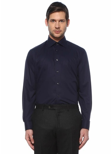 Eton Eton  Modern Yaka Gömlek 101612214 Lacivert